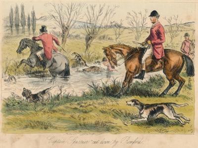 Captain Spurrier Cut Down by Romford, 1865 by John Leech