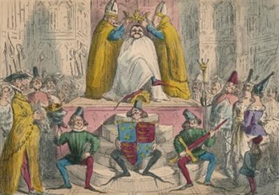 Coronation of Henry the Fourth (From the Best Authorities), 1850 by John Leech