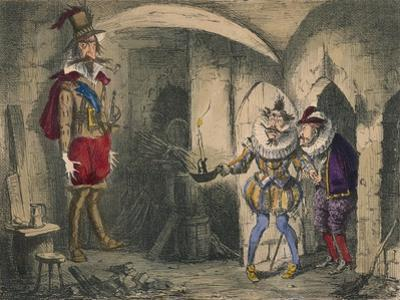 Discovery of Guido Fawkes by Suffolk and Mounteagle, 1850 by John Leech