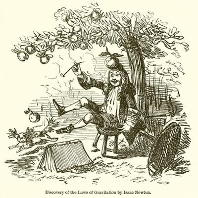 Discovery of the Laws of Gravitation by Isaac Newton by John Leech