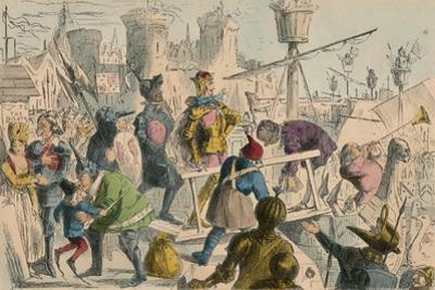 Embarkation of King Henry the Fifth at Southampton. A.D. 1415, 1850 by John Leech