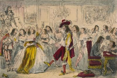 Evening Party - Time of Charles Ii, 1850 by John Leech