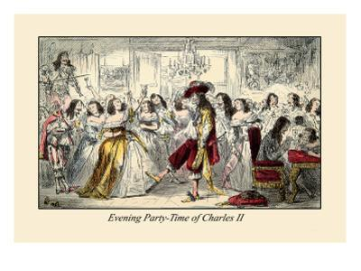 Evening Party, Time of Charles II by John Leech