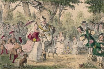 Henry the 8th and His Queen Out a Maying, 1850 by John Leech