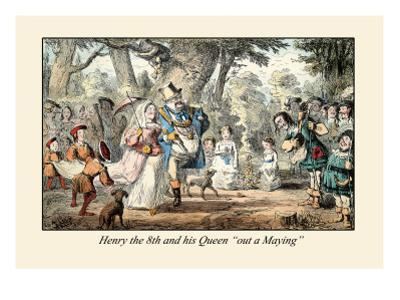 Henry VIII and His Queen Out A'maying by John Leech