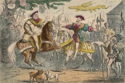 Henry Viii, Meeting Francis I, 1850 by John Leech