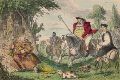 Henry Viii Monk Hunting, 1850 by John Leech
