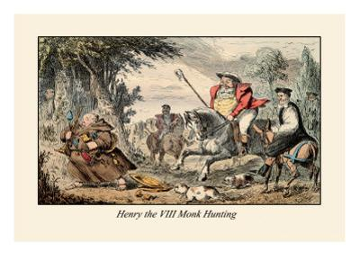Henry VIII Monk Hunting by John Leech