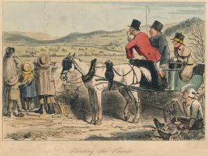 Hunting the Hounds, 1865 by John Leech
