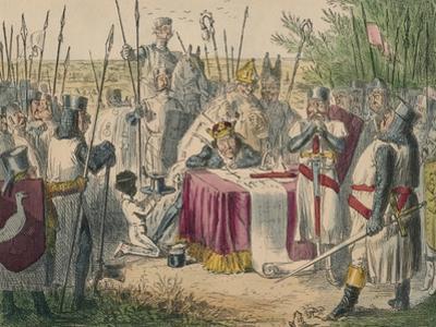 King John Signing Magna Charta, 1850 by John Leech