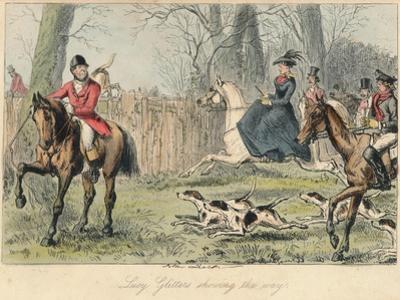 Lucy Glitters Showing the Way, 1865 by John Leech