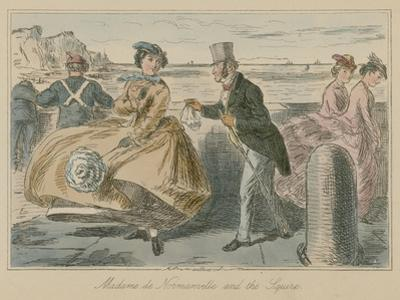 Madame De Normanville and the Squire by John Leech