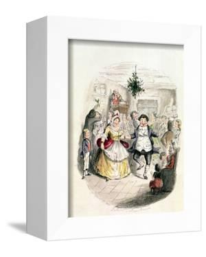 """Mr. Fezziwig's Ball, from """"A Christmas Carol"""" by Charles Dickens (1812-70) 1843 by John Leech"""