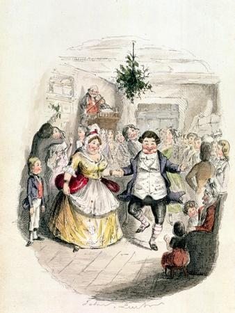 """Mr. Fezziwig's Ball, from """"A Christmas Carol"""" by Charles Dickens (1812-70) 1843"""