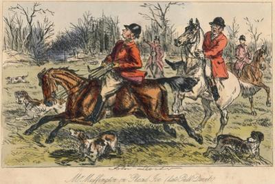 Mr Muffington on Placid Joe (Late Pull Devil), 1865 by John Leech