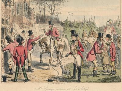 Mr. Sponge Arrives at Sir Arrys, 1865 by John Leech