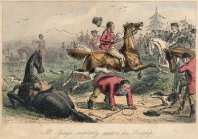 Mr. Sponge Completely Scatters His Lordship, 1865 by John Leech