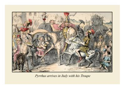 Pyrrhus Arrives in Italy with His Troupe by John Leech
