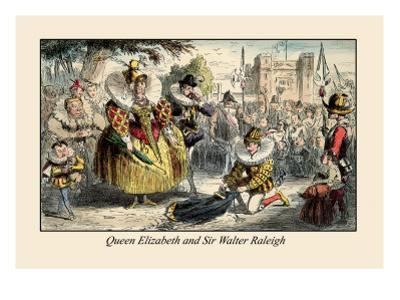Queen Elizabeth and Sir Walter Raleigh by John Leech
