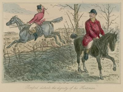 Romford Disturbs the Dignity of His Huntsman by John Leech