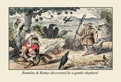 Romulus and Remus Discovered by a Gentle Shepherd by John Leech