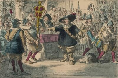 Take Away That Bauble: Cromwell Dissolving the Long Parliament, 1850 by John Leech