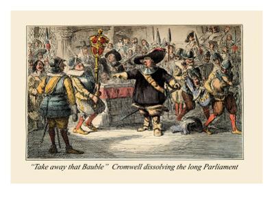 Take Away That Bauble: Cromwell Dissolving the Long Parliament by John Leech