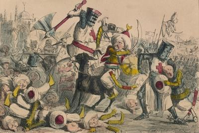 Terrific Combat Between Richard Coeur De Lion and Saladin, 1850 by John Leech