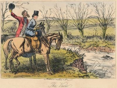The View, 1865 by John Leech