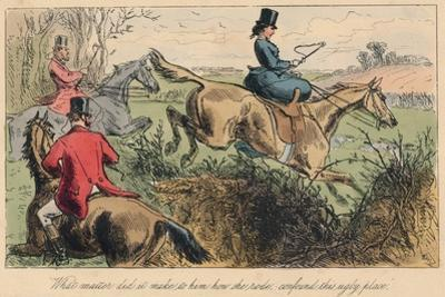 What Matter Did it Make to Him How She Rode, Confound This Ugly Place, 1865 by John Leech