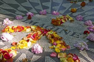 John Lennon Tribute in Strawberry Fields in Central Park, New York