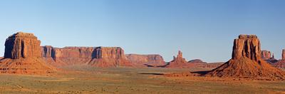 Arizona, Monument Valley, Merrick Butte, East Mitten Butte and Castle Butte by John & Lisa Merrill