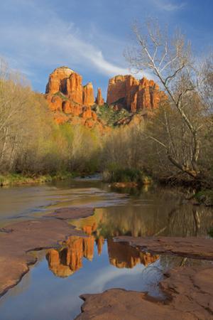 Arizona, Sedona, Crescent Moon Recreation Area, Red Rock Crossing, Cathedral Rock by John & Lisa Merrill
