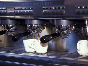Cappucino Machine and Cups, Rome, Italy by John & Lisa Merrill