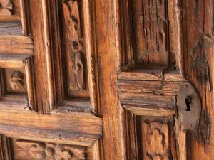 Carved Wooden Door, San Miguel De Allende, Mexico by John & Lisa Merrill