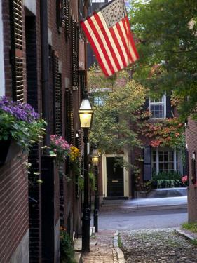 Cobblestone Street and Historic Homes of Beacon Hill, Boston, Massachusetts, USA by John & Lisa Merrill