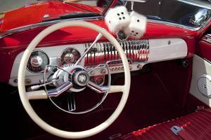 Dashboard at Classic Car Show, Kirkland, Washington, USA by John & Lisa Merrill