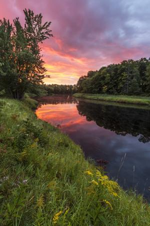Dawn on the Mattawamkeag River flowing through Wytipitlock, Maine. by John & Lisa Merrill