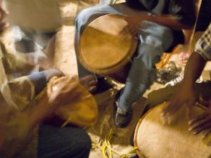 Drum Circle, Garifuna Settlement Day, Hopkins, Stann Creek District, Belize by John & Lisa Merrill