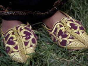Girl's Embroidered Babouches (Slippers), Morocco by John & Lisa Merrill