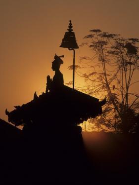 King Bhupatindra Malla's Column at Sunset, Kathmandu, Nepal by John & Lisa Merrill