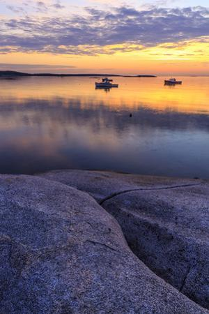 Lobster boats in a harbor in South Thomaston, Maine. by John & Lisa Merrill