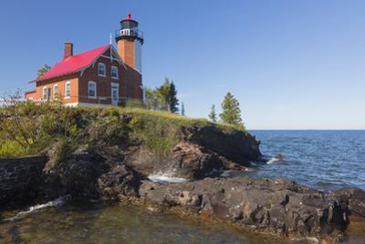 Michigan, Keweenaw Peninsula. Eagle Harbor Lighthouse by John & Lisa Merrill