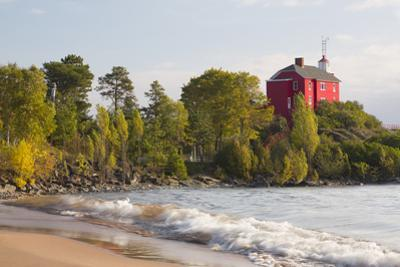 Michigan, Marquette. Marquette Harbor Lighthouse by John & Lisa Merrill