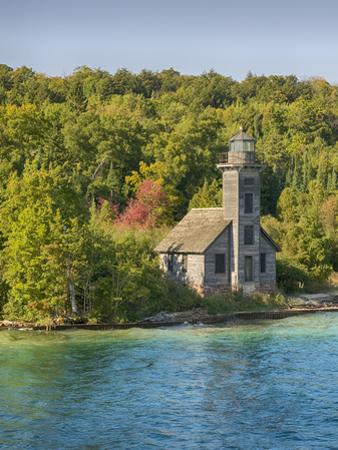 Michigan, Munising. Grand Island, East Channel Lighthouse by John & Lisa Merrill