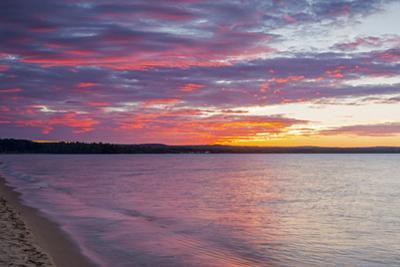Michigan, Munising. Lake Superior at sunset by John & Lisa Merrill