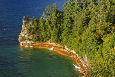 Michigan, Pictured Rocks National Lakeshore, Miners Castle by John & Lisa Merrill