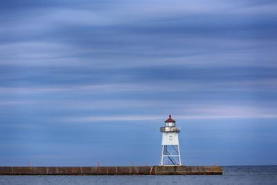 Minnesota, Grand Marais. Grand Marais Lighthouse by John & Lisa Merrill