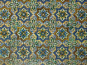 Moorish Mosaic Azulejos (ceramic tiles), Casa de Pilatos Palace, Sevilla, Spain by John & Lisa Merrill