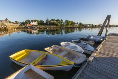 Skiffs at the town docks in Jonesport, Maine. by John & Lisa Merrill